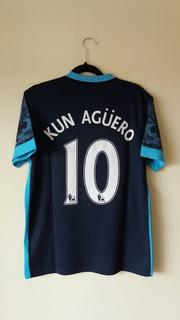 Camisa Away Manchester City 2015 - Agüero #10