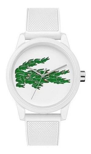 Relógio Lacoste Masculino Borracha Branca Único Original