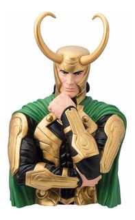 Busto Loki Marvel Coin Bank Alcancía Colección Thor Banco