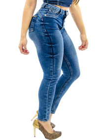 Kit 3 Calças Jeans Feminina Cintura Alta Lycra Premium Luxo