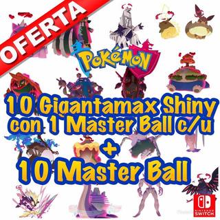 20 Masterball Para Pokémon Espada O Escudo Sword & Shield
