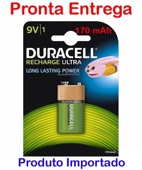 Bateria Duracell 9v 170mah Ultra Recarregável - Unitário