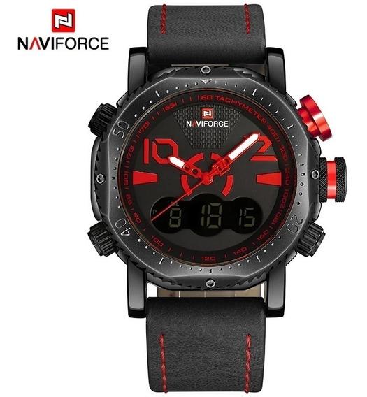 Relógio Naviforce 9094 Display Duplo Militar Original