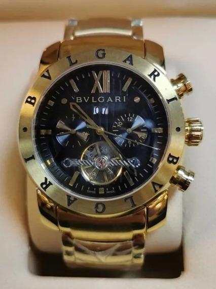 Relógio Bv Masculino Iron Man Dourado Automatico Outlet Rea