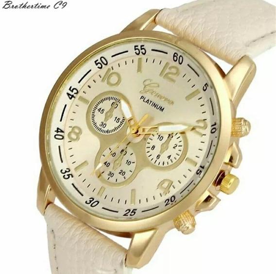 Relógio Feminino Moda Luxo Quarto Geneva Barato