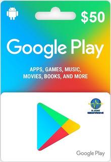 Tarjeta De Regalo De Google Play De $ 50 Gift Card
