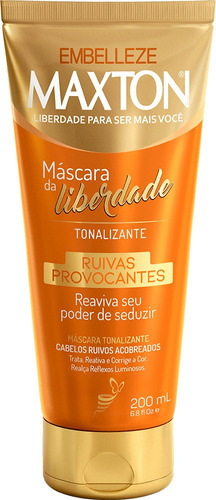 Máscara Tonalizante Maxton Máscara Da Liberdade Ruivas Provo