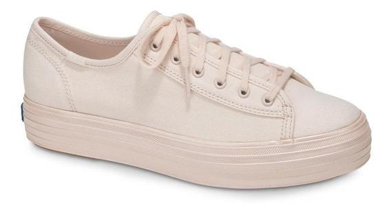 Zapatos Mujer Keds Triple Kick Shimmer Light Pink[lt5 Cas