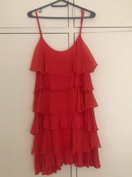 Vestido De Algodón Y Tul Color Coral Forever 21