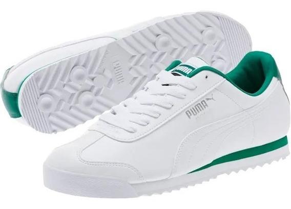 Tenis Puma Roma Basic Blanco/verde 353572 75