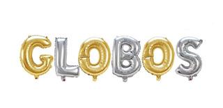 Globo En Letras Metálicas De 40cm