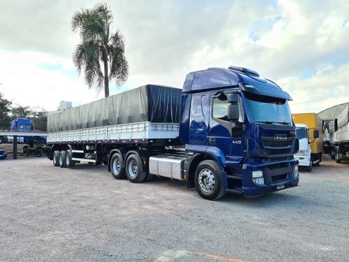 Imagem 1 de 8 de Iveco Hi-road 440 6x2 2020 + Graneleira Librelato 12.4m 2020