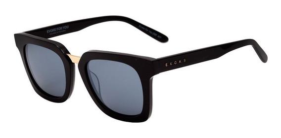 Óculos De Sol Evoke For You Ds5 A01 Black Shine Gold / Gray