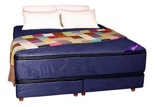 Sommier Colchon Queen Size Resortes Somier Pillow Top