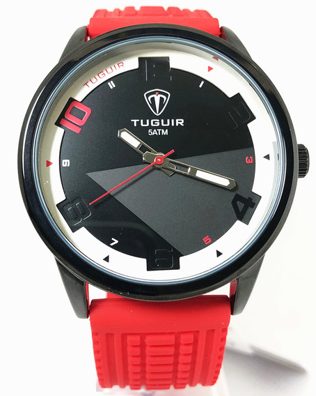 Relógio Masculino Analógico Tuguir 5050 Vermelho Esportivo
