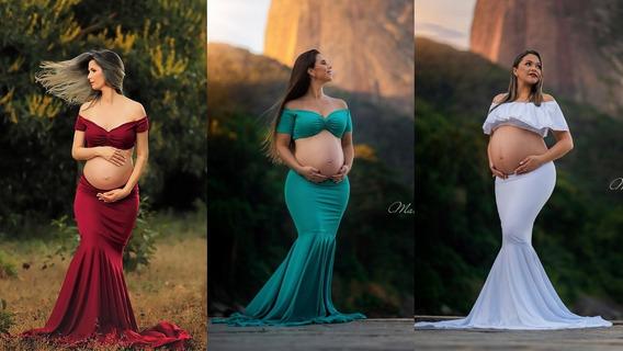 Kit 3 Vestidos Para Ensaio Gestante Modelos Diferentes