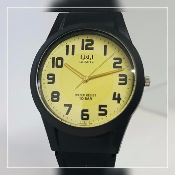 Relógio Feminino Masculino Borracha Preto Prova D