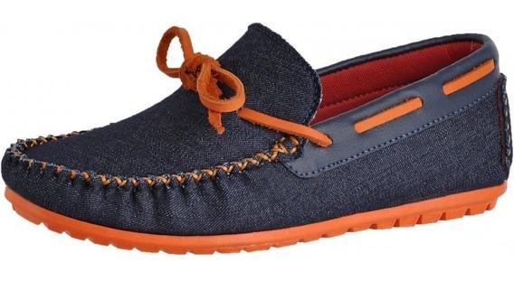 Mocassim Infantil Just Walk 400 Jeans/laranja