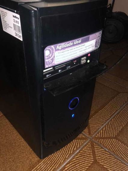 Computador Core2 Duo, Teclado, Mouse, Som, E Estabilizador.