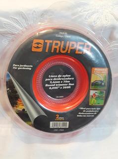 Truper 17609 Hilo Redondo 2.4 Mm X 78 M Naranja Desbrozadora
