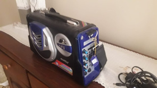 Parlante Portatil Karaoke Mondial Mco04 40w Bluetooth Mic Fm