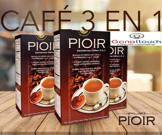 Pioir Café 3 En 1 Con Ganoderma Lucidum