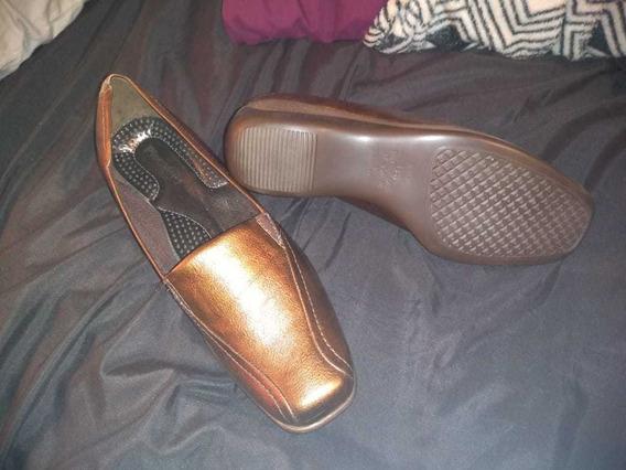 Zapatos De Cuero Color Cobre