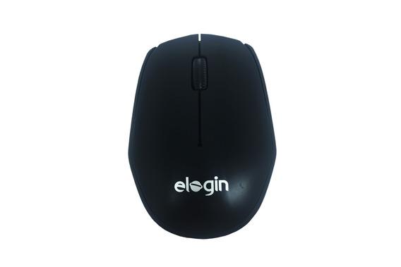Mouse Mini Óptico Usb Sem Fio 2,4ghz 1600dpi Elogin Preto