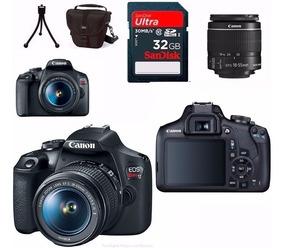Câmera Canon Rebel T7 Com 18-55 + 32gb+bolsa C/ Nota Fiscal