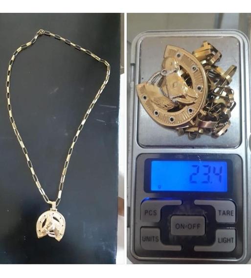 Cordão De Ouro 18 Tijolinho 23.4gramas