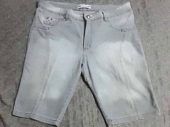 Bermuda Jeans Com Stretch Plus Size Tam 52 Temdtudo