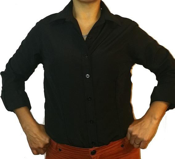 Camisa Dama Divarezzi Lisa Algodón Poliester Facil Planchado