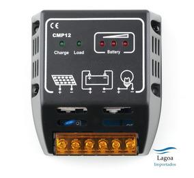Controlador De Carga Para Painel Solar 10 Amperes 12v E 24v