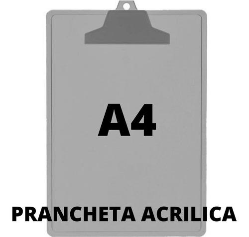 Imagem 1 de 10 de 5 Pranchetas Acrílica A4 Prendedor Plástico -acrimet