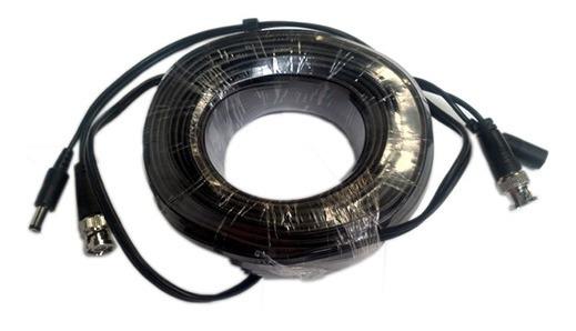 Cable De Video Y Energía De 20 Mts Coaxial Siames /bnc Mach