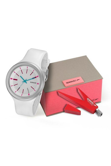 Relógio Speedo Feminino Branco Com Pendrive 65088l0evnp2k1