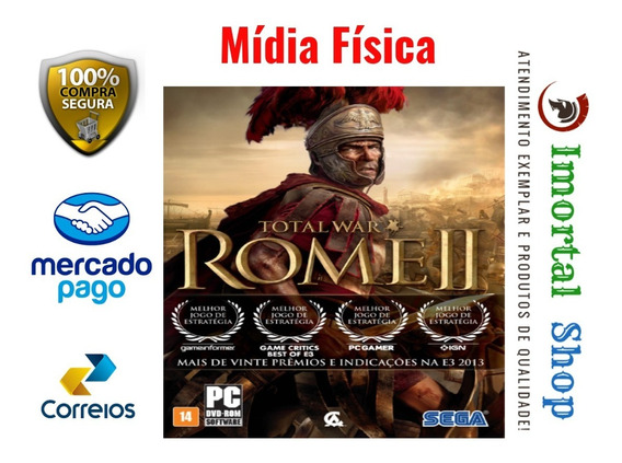 Rome Total War 2 Gold Edition Game Mídia Física Pc