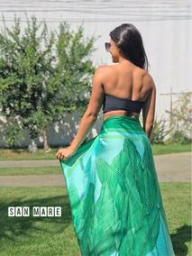 Saida De Praia Pareo Feminino Saida E Vestido Verde