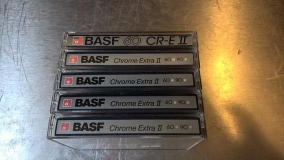 5 Fitas Cassete Basf Cromo Extra 60 Diferentes Modelos!
