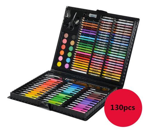 130pcs Pintura Caja Set Marcador De Dibujo Para Niños Pluma