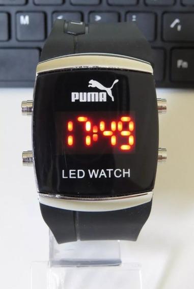 Relógio Unisex Quadrado Digital Led Preto Novidade Moderno