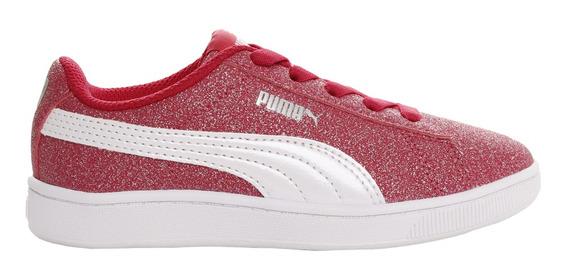 Zapatillas Puma Moda Vikky V2 Glitz Ac Ps Niña Fu/bl