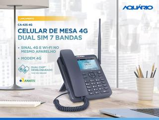 Telefone Celular De Mesa Aquário Ca-42s 4g Wi-fi Dual Chip