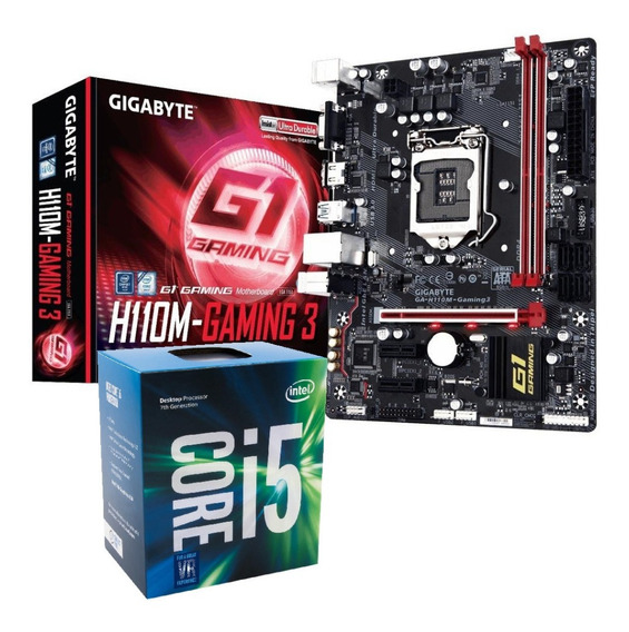 Kit Processador Intel Core I5 7400 H110m Gaming 3 Ddr4