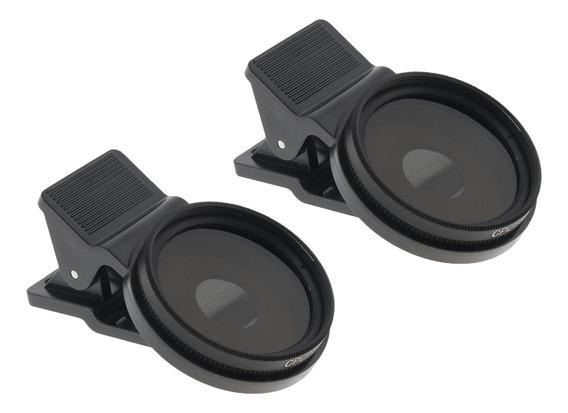 Filtro P/ Lente Cpl Profissional 37mm C/prendedor 2pçs