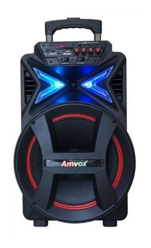 Caixa de som Amvox Power X Aca 400 Strondo portátil com bluetooth  preta 110V/220V