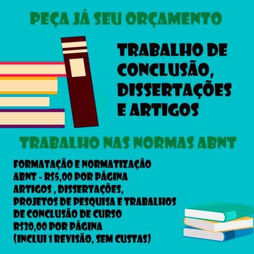 Consultoria Para Trabalhos Acadêmicos- Tcc E Artigos