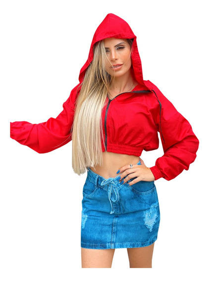 Jaqueta Feminina Curta Corta Vento Moda Lançamento Blusa