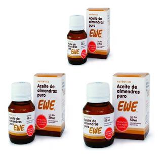 Pack X 3 Unid. Ewe Aceite De Almendras Puro 50ml ¡oferta!