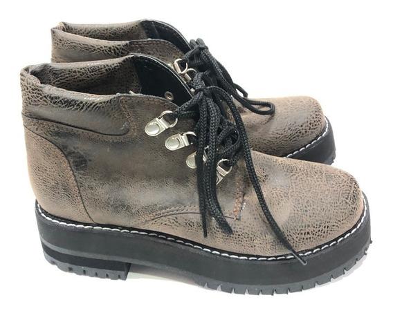 Juana Borcegos Con Cordones Zapatos